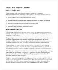 Sample Project Plan Outline Sample It Project Plan Template 6 Free Documents Download