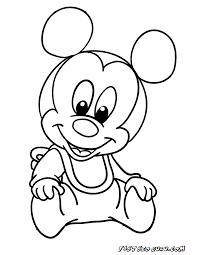 Printable Mickey Mouse Disney Babies Coloring Pages 1133 Baby