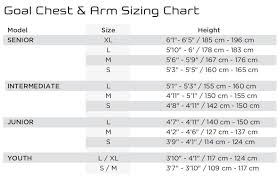Bauer Hockey Gloves Size Chart Goalie Chest Arm Sizing Guide South Windsor Arena