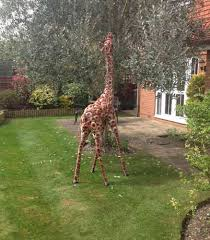 garden animal statues. Wonderful Statues Small Garden Giraffe Metal Sculpture To Animal Statues T