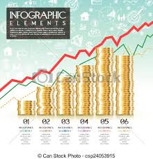Financial Concept Infographic Template Design