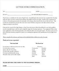 Boy Scout Eagle Recommendation Letter Form - April.onthemarch.co