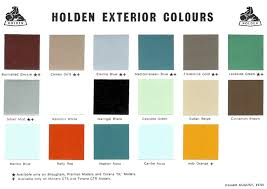 Aston Martin Color Chart Veritable Holden Colour Chart 2019