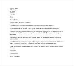 Letter Of Resignation Email Bravebtr