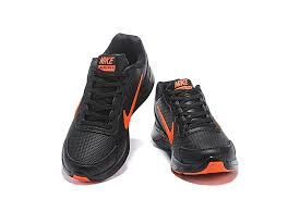 nike lunarglide 4 men s leather running shoes black orange