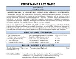 click here to download this lab analyst resume template httpwww laboratory technician resume sample