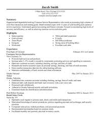 Best Solutions of Sample Resume For Customer Service Representative In Bank  With Sheets