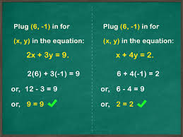 how to solve systems of equations