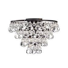 crystal flush mount chandelier. Tranquil Crystal And Bubble Flush-mount Chandelier - Free Shipping Today Overstock 14973838 Flush Mount N