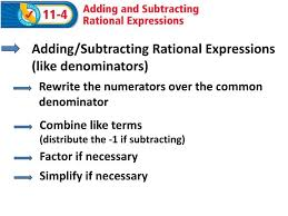 adding subtracting rational expressions like ppt adding subtracting rational expressions like denominators