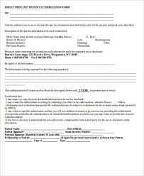Hipaa Authorization Form Custom 48 HIPAA Release Form Samples Sample Templates