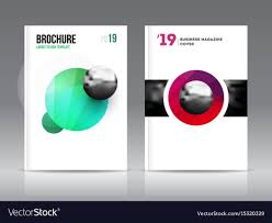 Magazine Cover Layout Design Template Set Vector Image
