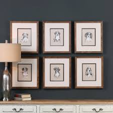 on 6 piece wall art set with small breed sketch 6 piece framed graphic art set birch lane