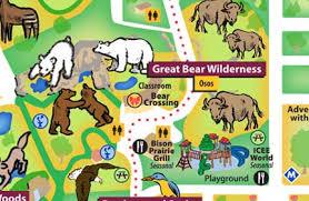 brookfield zoo map.  Zoo Zoo Map Great Bear Wilderness In Brookfield Map