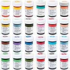 Wilton Food Coloring Chart Wilton Master 24 Icing Color 1 Ounce Set