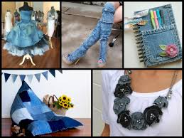 Recycled Denim Craft Ideas  Simple DIY Old Jeans Projects