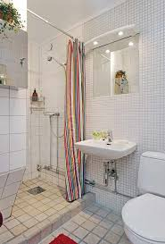 Bathroom Sink Curtains Bahtroom Streaky Curtain For Walk In Shower Closed Space Saving