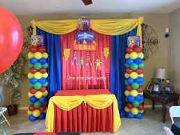 home event decor kids parties decorations power rangers