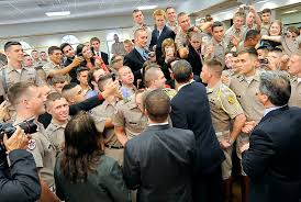 u s department of defense photo essay president barack obama shakes hands texas a m university cadets after attending the points of light