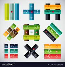 Stripe Templates Set Of Stripe Infographic Templates Royalty Free Vector