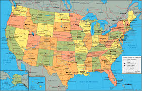 United States Map Of The World United States Map And Satellite Image