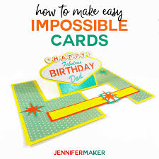 Templates For Birthday Cards Impossible Card Templates Super Easy Pop Up Cards