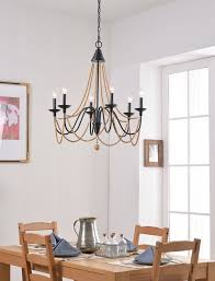 6 light candle style chandelier metal wood adjule oil rubbed bronze