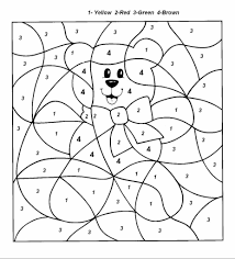 Numbers Coloring Pages Adult Color By Number Preschool 9281024