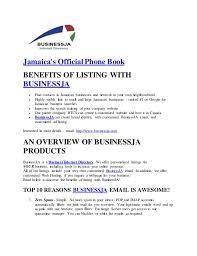Business Phone Book Jamaicas Official Phone Book
