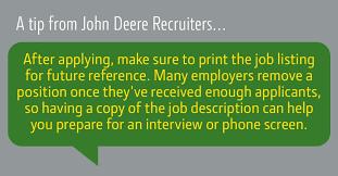 interview tips john deere us