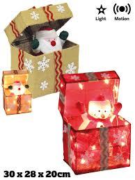 Light Up Pop Up Santa Details About Pop Up Light Up Parcel Christmas Present Decoration Led Animated Santa Snowman