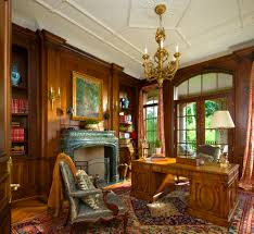 classic office design. Office With Wood Paneling Detail In A French Classical House Highland Park, TX. Classic Design E