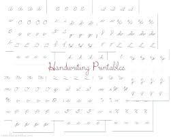 Alphabet Handwriting Worksheets For Kindergarten Writing Nursery ...