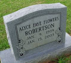 Alice Faye Flowers Robertson (1939-2003) - Find A Grave Memorial