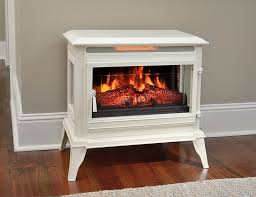 comfort smart jackson cream infrared electric fireplace stove with remote control cs 25ir crm