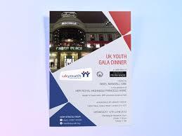 Uk Youth Charity Gala Dinner Invite Design Deon Design