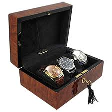 triple watch display box orbita zurigo w80010 in burl wood