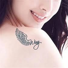 Módní Styl Design 3 D Křídla Tetování Samolepky Dočasné Tetování Jsou Dobré Kvality Tattoo Flash At Vova