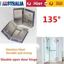 135 304 stainless steel frameless glass hinges for inset shower door bracket