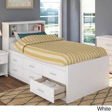 Overstock Bedroom Furniture Sets Sonax 2 Piece Single Twin Captains Storage Bed Set With Bookcase