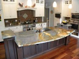 Kitchen Cabinets Granite Countertops Wooden Small Island Granite Countertop Gray Stained Wooden Cabinet