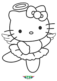 Hello kitty colouring pages angel coloring pages valentine coloring pages cat coloring page coloring pages for girls cartoon coloring pages get the best printable hello kitty coloring pages to create some fun in your kid's activities. Hello Kitty Angel Coloring Page For Girls Hello Kitty Colouring Pages Angel Coloring Pages Kitty Coloring