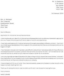 Letter Of Recommendation Customer Service Customer Service Cover Letter Samples Shared By Amira Scalsys