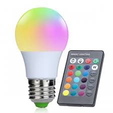 e27 3w 16 color changing rgb led bulb chandelier with 24 key ir remote controller