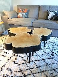 Petites Tables Rondins Sur Hairpin Legs Barbatruc Et R Cup