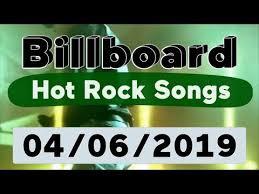 Billboard Top 50 Hot Rock Songs April 6 2019