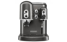 on image below to zoom kitchenaid pro line medallion silver espresso maker with dual independent