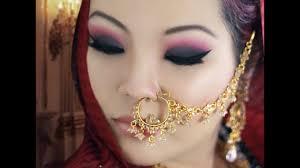 c and black smokey eye makeup tutorial for monolids asian indian bridal makeup tutorial