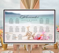 Printable Seating Chart For Wedding Reception Beach Themed Wedding Seating Chart Reception Seating Plan