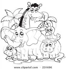 Coloring Pages Safari Animal Coloring Pages Animals Masivy World